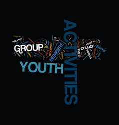 Free youth activities text background word cloud vector