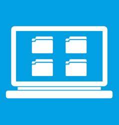 Desktop icon white vector