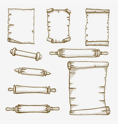 old scrolls engraving vector image
