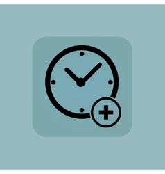 Pale blue add time icon vector