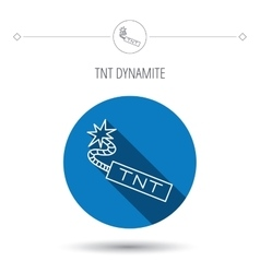 Tnt dynamite icon bomb explosion sign vector