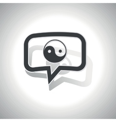 Curved ying yang message icon vector