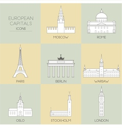 European capitals vector image
