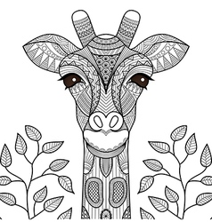 Giraff coloring page vector