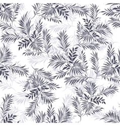 Palm leaves doodle style vector
