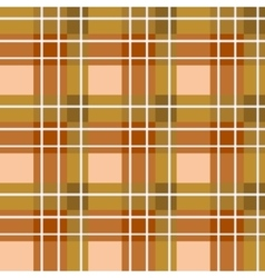 Brown plaid fabric vector image