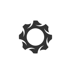 Gear icon logo on white background vector