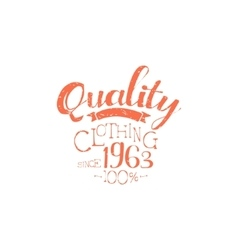 Hundred percent quality clothing vintage emblem vector