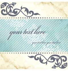 arabesque background in blue and gold vector image