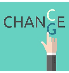 Change and chance concept vector