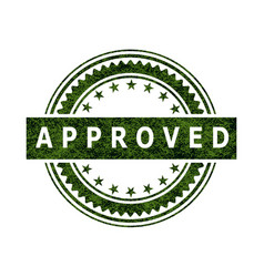 Approved stamp icon sign vector