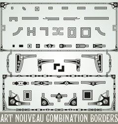 Art nouveau combination border vector