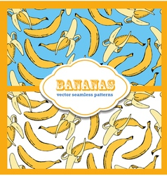 Banana colored doodle seamless vector
