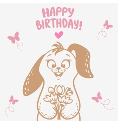 bunny Happy Birthday vector image vector image