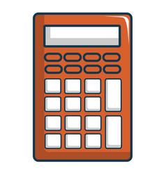 Calculator icon cartoon style vector