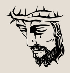 christ face vector image