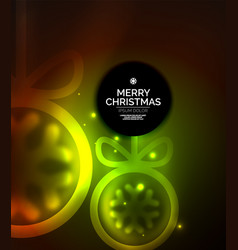 christmas baubles magic dark background vector image