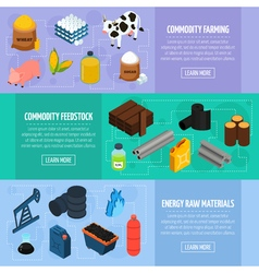 Commodity banners set vector