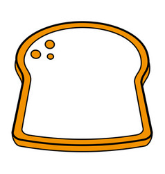Delicious bread slice icon image vector