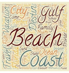 Destin fl jewel of the gulf coast text background vector