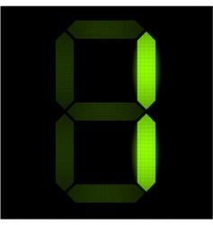 digital number one vector image