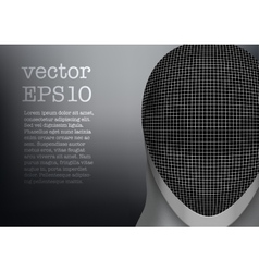 Fencing mask background vector