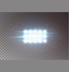 Flash light lens flare transparent light with vector