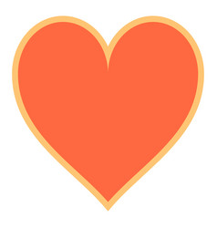 Flat heart sign like icon vector