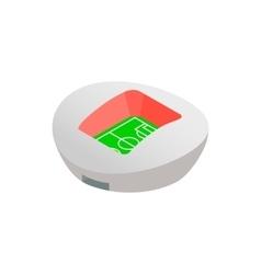 Football round stadium isometric icon vector