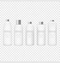Glass bottle set vector