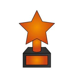 golden trophy icon vector image vector image