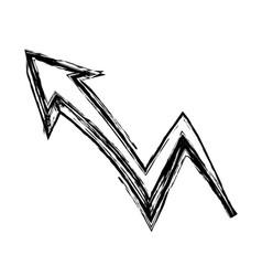 Graffiti arrow abstract design creative icon vector