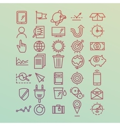 Hand drawn icons concept development management vector