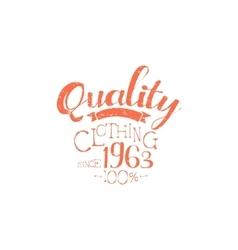 Hundred percent quality clothing vintage emblem vector