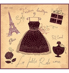 Little Black Dress vector image vector image