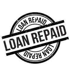 Loan repaid stamp vector