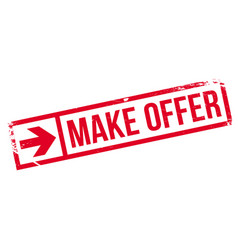 Make offer rubber stamp vector