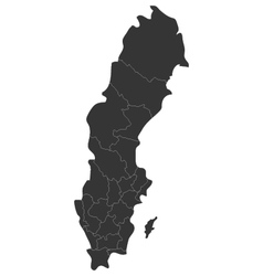 map of sweden with regions vector image