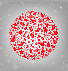 merry christmas retro postcard vector image