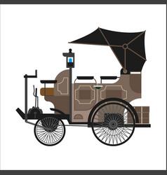 Old car or vintage retro collector automobile vector