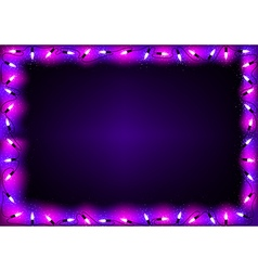 Purple christmas lights background vector