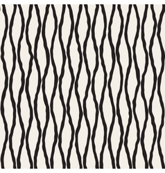 Seamless hand drawn vertical wavy lines vector