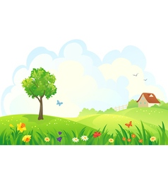 Spring rural day vector