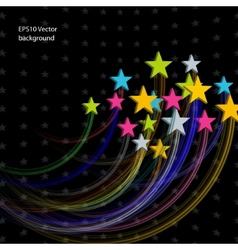 stars abstract background vector image