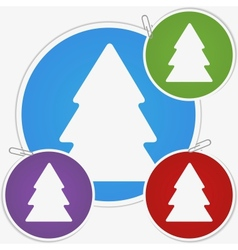 sticker - fir tree vector image