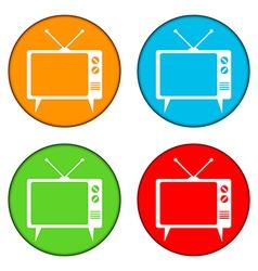 Tv button set vector