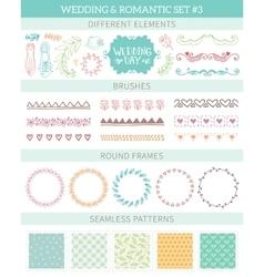 Wedding vintage elements big collection vector