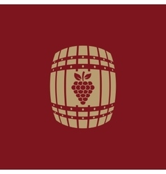 The wine icon cask and keg alcohol wine symbol vector