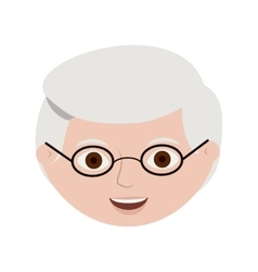 Front face elderly man with glasses vector