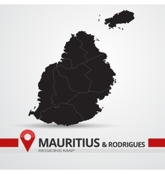 Mauritius and rodrigues map vector